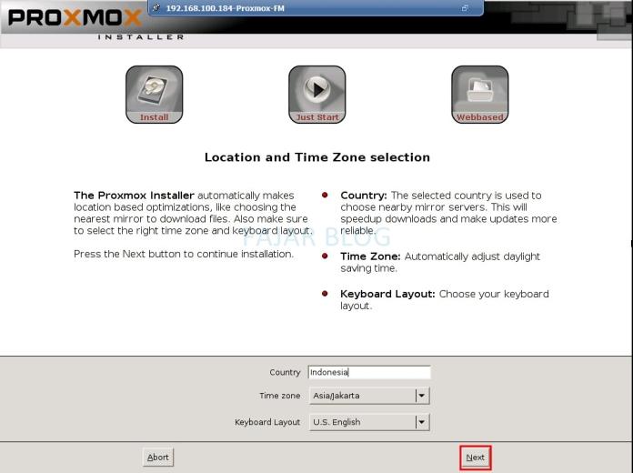 Installasi Proxmox VE 3.4