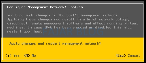 Konfigurasi Dasar VMWare vSphere via DCUI