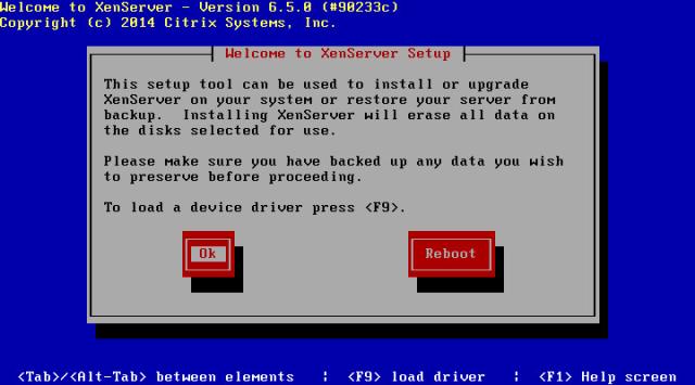 Instalasi Xen Server 6.5