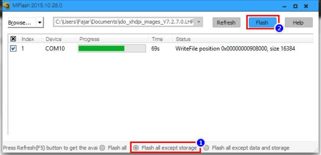 Flashing ROM Redmi 3 dari Distributor ke Official