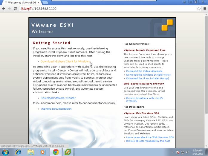 Instalasi VMWare vSphere Client