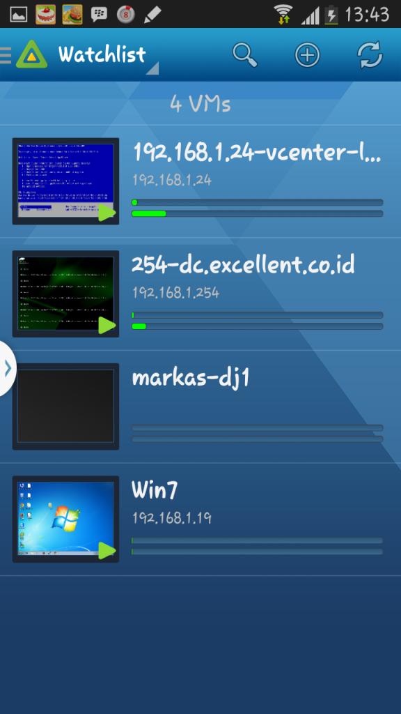 VMware vSphere Mobile Watchlist